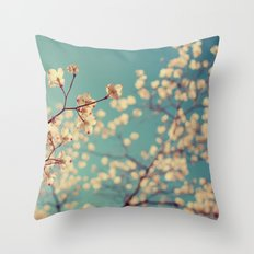 Tuesday Blues Throw Pillow