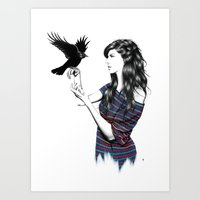 Dark Wings Art Print