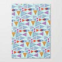 Geometric Mid Century Modern Triangles 2 Canvas Print