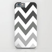 BLACK/GRAY OMBRÉ CHEVRON iPhone 6 Slim Case