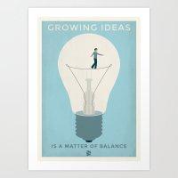 Growing ideas Art Print