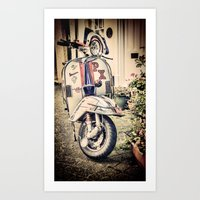 Vintage Moped Art Print