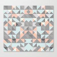 Triangular Pattern Canvas Print