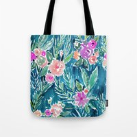 PARADISE FLORAL - NAVY Tote Bag