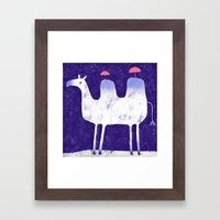 Camel In Wintry Mix With… Framed Art Print