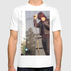 Julian Casablancas - The Strokes White SMALL Mens Fitted Tee