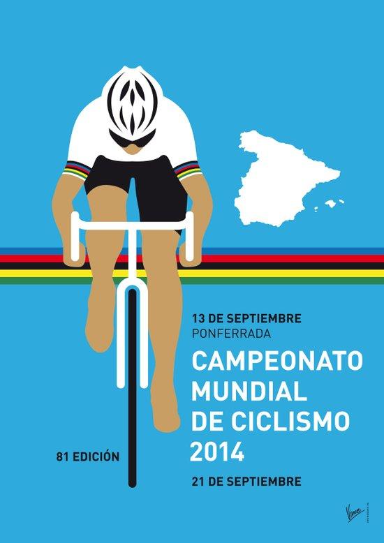 MY UCI Road World Championships MINIMAL POSTER 2014 Art Print