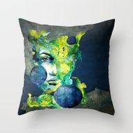 Evelin Green (Set) By Ca… Throw Pillow