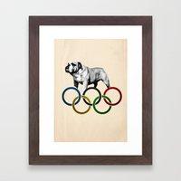 British Bulldog - Olympics London 2012 Framed Art Print