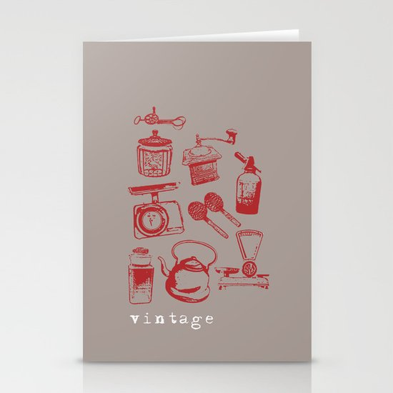 kitchen vintage Stationery Card