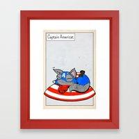 CAPTAIN AMERICAT - FAN A… Framed Art Print