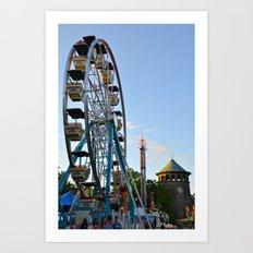 The Flower Market Ferris Wheel Art Print