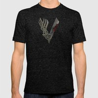 Vikings Mens Fitted Tee Tri-Black SMALL