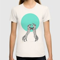 Territory Womens Fitted Tee Natural SMALL