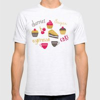 Teatime Treat Mens Fitted Tee Ash Grey SMALL