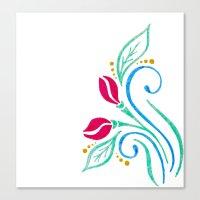 Abstract tulip motif Canvas Print