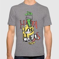 Hasta los Huesos Mens Fitted Tee Tri-Grey SMALL