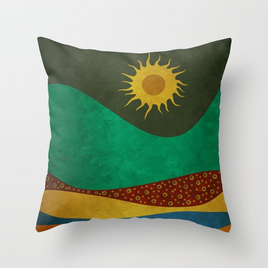 color under the sun (III) Throw Pillow