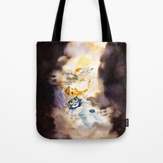 Little Owl Boy and the Milky Way Tote Bag