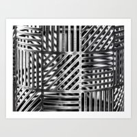 Metalic Pattern Art Print