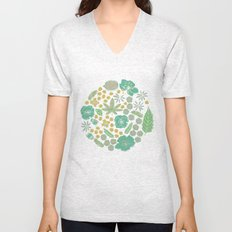 Floral Bloom  Unisex V-Neck