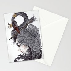 Swan Song art print Stationery Cards
