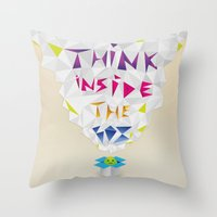Think Inside The Box Throw Pillow