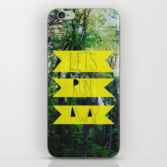 Let's Run Away: Forest Park iPhone & iPod Skin