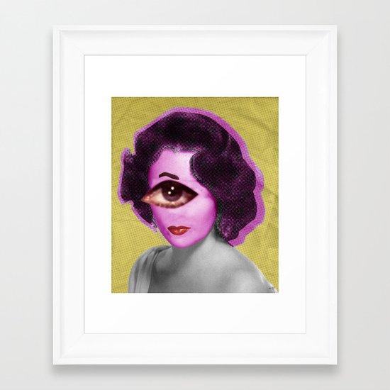 LizT Mix Collage 1 Framed Art Print