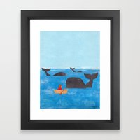 Whale Watching Framed Art Print