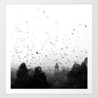 Attack Of The Bats Art Print