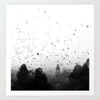 Attack Of The Bats Art Print
