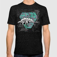 Stegosaur Fossil Mens Fitted Tee Tri-Black SMALL