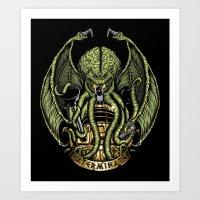 Cthulhu Exterminates Art Print
