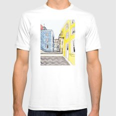 Beautiful Lisbon by Charlotte Vallance SMALL White Mens Fitted Tee