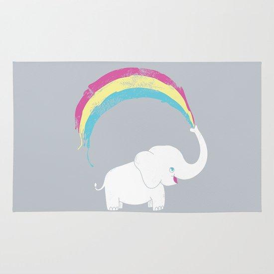 Elephant Painting! Area & Throw Rug