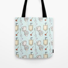 Bathroom Pattern Tote Bag