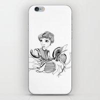 Woman On Bird iPhone & iPod Skin