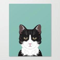 Quinn - Cute Black And W… Canvas Print