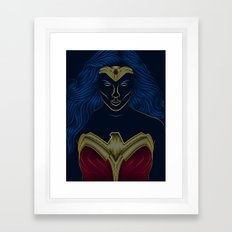 Wonder . Woman Classic Framed Art Print