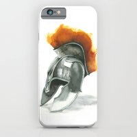 iPhone & iPod Case featuring Helmet by Hande Unver