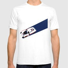 956  White Mens Fitted Tee SMALL