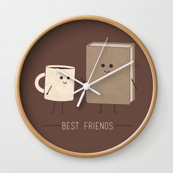 Best Friends Wall Clock By Teo Zirinis Society6