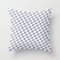 US Air force Roundel insignia - Pattern version Throw Pillow