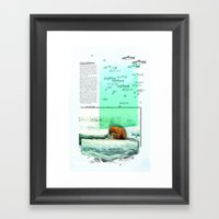 Alaskan Brown Bear Framed Art Print