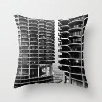 Bertrand's Buildings Throw Pillow