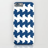 jaggered and staggered in monaco blue iPhone 6 Slim Case