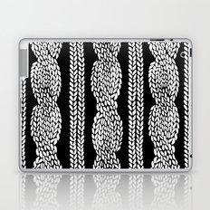 Cable Row Black Laptop & iPad Skin