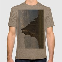 Shiprock, New Mexico. Mens Fitted Tee Tri-Coffee SMALL