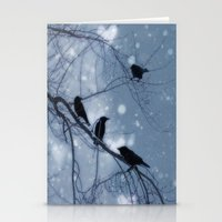 Hearts and Snowflakes Stationery Cards